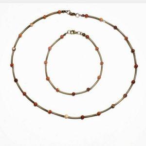 4 for $20 - Jasper Necklace & Bracelet Set